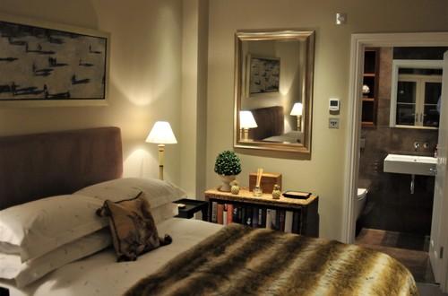 The bedroom with en-suite shower room